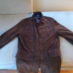 J Crew suade leather